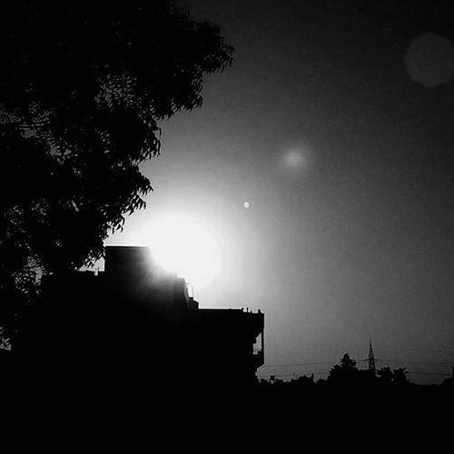 Lensflare Blackandwhite Amazing Sunset Awesome Newpage  Need Your SUPPORT