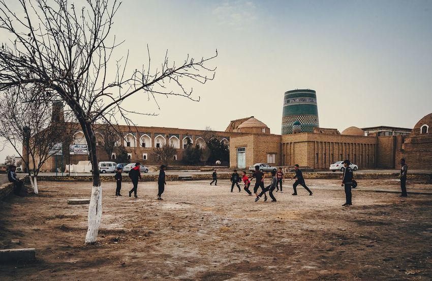 Football of our childhood ... Football Football Game Khiva Khiwa Uzbekistan Uz Architecture Building Exterior Sky People Street Street Photography Urban Cityscapes Urbanphotography Fujifilm_xseries Old Fujifilmru Outdoors Streetphotography Xt20 Xf1024 Xf10-24mm Tourism Minaret