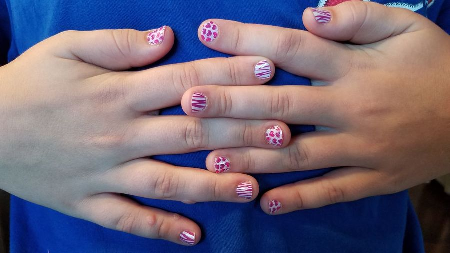 EyeEm Selects Human Body Part Human Hand Child Fingernail Nail Art Nail Polish People Arts Culture And Entertainment Girls Manicure Painting Fingernails Indoors  Day Close-up Just Girly Things Just Girl Stuff