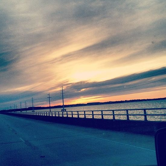 Caught a glimpse of this beautiful sunset while driving home 😍🌞☀ OBX Sunset Beautiful Lovemyhome