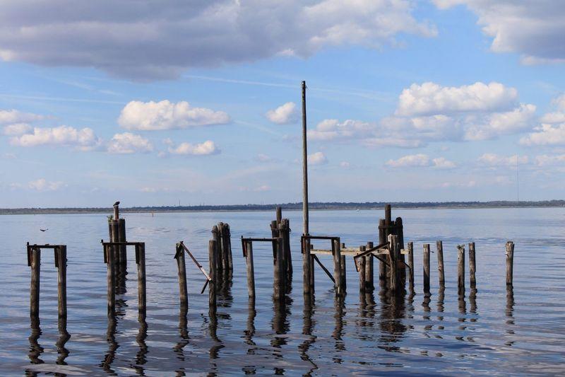 Broken dock Sky