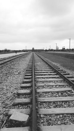 Railroad Track Rail Transportation Train - Vehicle Business Finance And Industry Straight Sky