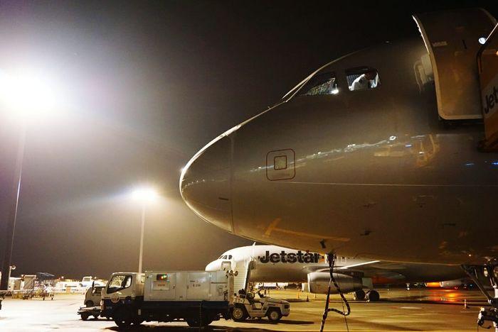 In Japan NARITAAIRPORT Light And Shadow Airplane Nightphotography