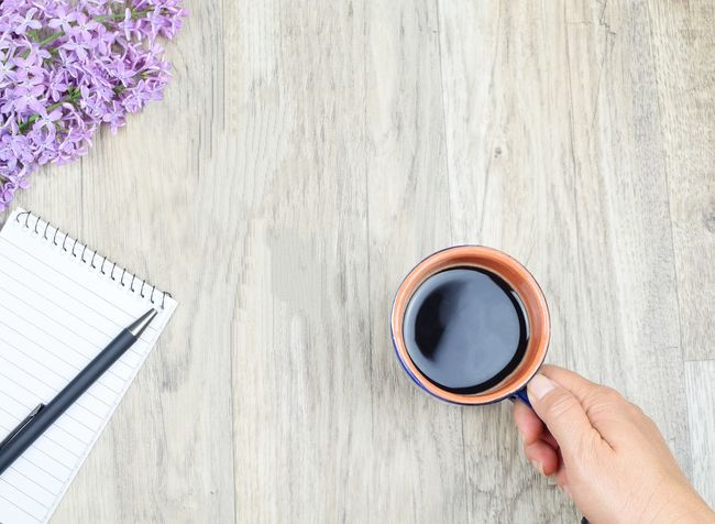 flat lay, coffee in hand Flat Lay Flower Note Paper EyeEm Selects Object Copy Space Pen Coffee Time Colors Backgrounds Relaxing Top View Human Hand Drink Tea - Hot Drink Directly Above High Angle View Coffee - Drink Studio Shot Close-up Food And Drink Black Coffee Coffee Cup Espresso Frothy Drink Cafe Macchiato Caffeine Latte Hot Drink Coffee