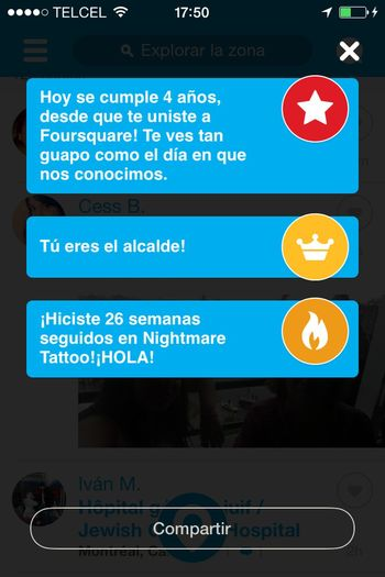 ¡¡ 4 años haciendo Check in !! Checking In 4sq 4sqDay Foursquare