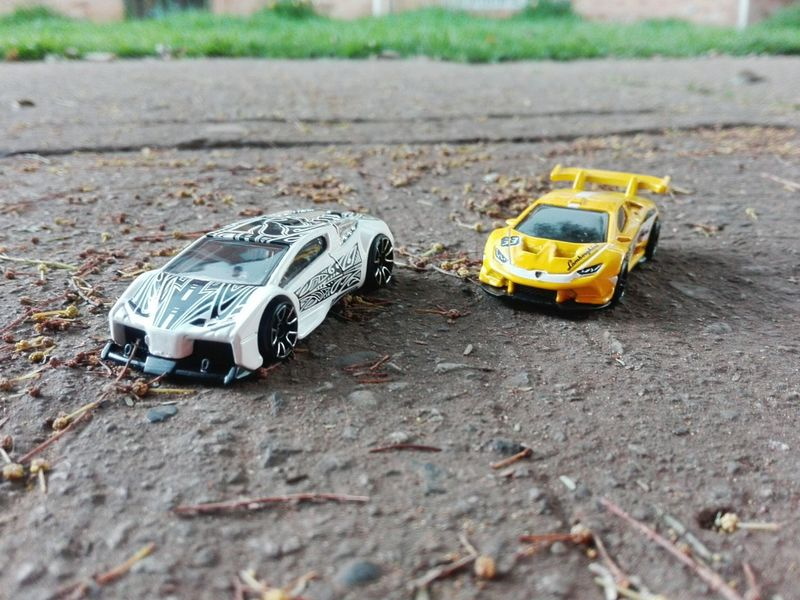 Day Land Vehicle Outdoors No People Childhood Car Kids HotWheels Yellow Color Yellow Car Yellow Whitecar Whitecolor Artcar