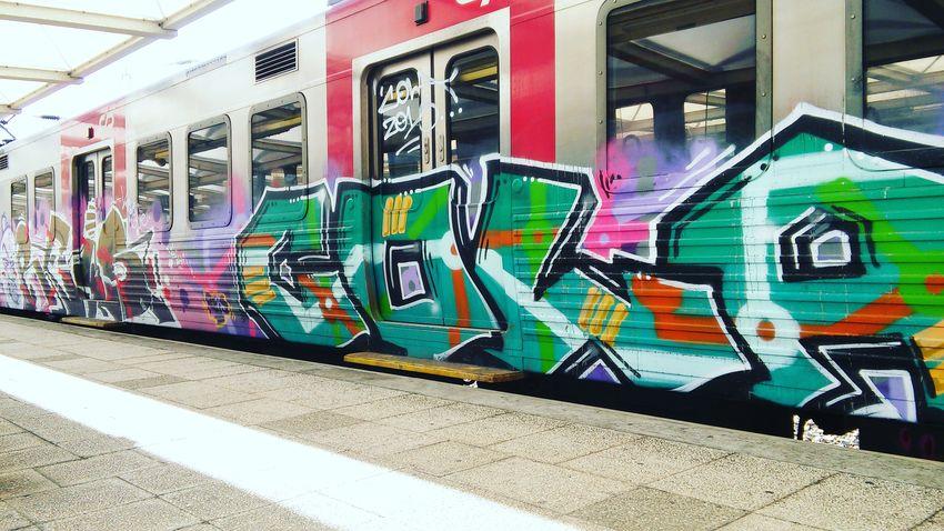 Train - Vehicle Transportation Mode Of Transport Public Transportation Graffiti ArtWork Urbanarts Graffiti Art