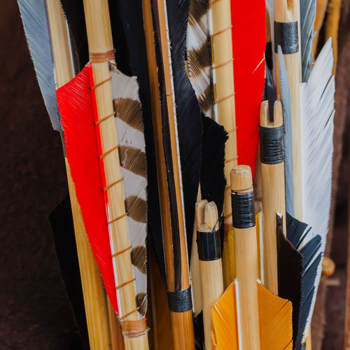 Close-Up Of Archery Bows