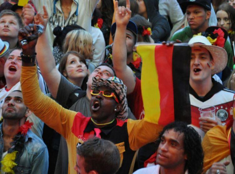 Hamburg Public Viewing Fußball WM 2014 Finale