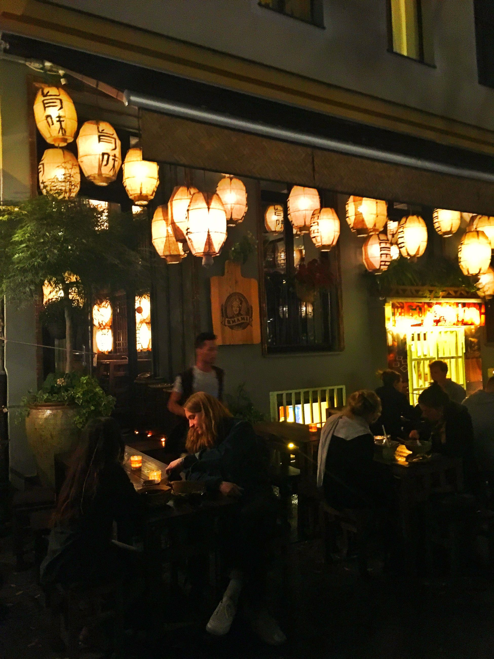 architecture, built structure, illuminated, hanging, building exterior, lantern, history