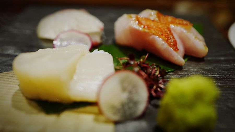 JAPANESE SASHIMI(Fresh Fish) Discoverhongkong Leicaq Leica Fishfood Fresh Dinner Japanese Food Cool Japan Taking Photos Hello World