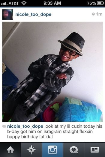 I Would Like It If All My Followers Will Show My Lil Cuzin Sum Luv On His B-day