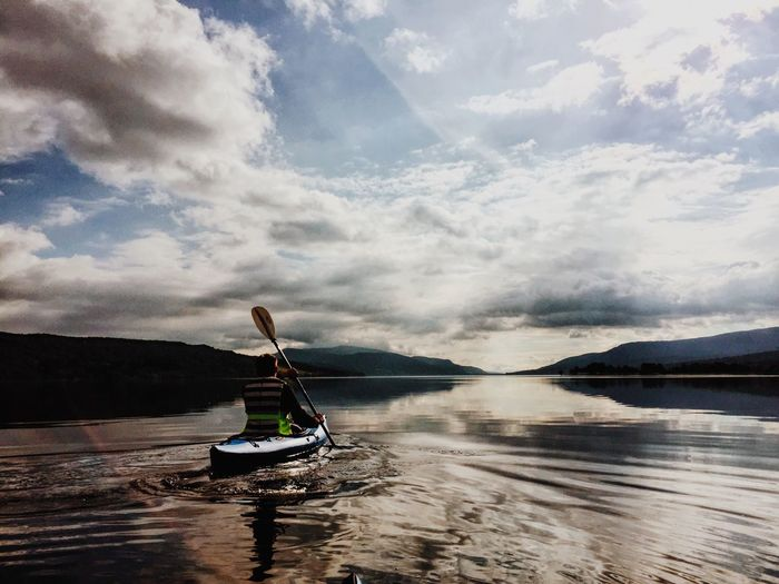 Kayaking in the highlands of Scotland. Loch  Kyacking Highlands Mountain Scotland Travel IPhoneography Water