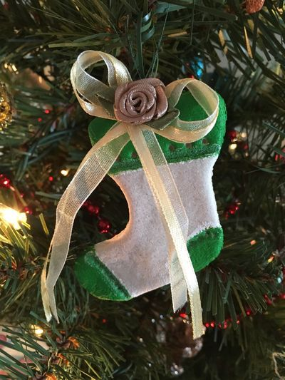 Christmas Stocking Stocking Ornament Christmas Handmade Candy Cane Salt Dough Decorations Christmas Ornament Handmade Object Handmade For You Holiday Moments