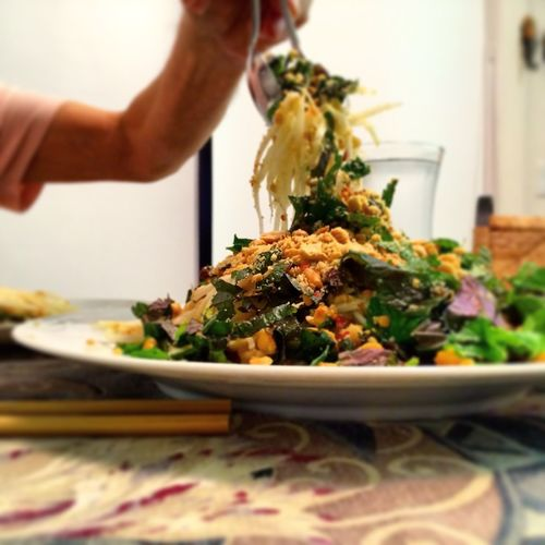 Vietnamese Green Papaya Salad Food food photography Green Papaya chopsticks Fish Sauce Nuoc Mam Homemade Food The Foodie - 2015 EyeEm Awards