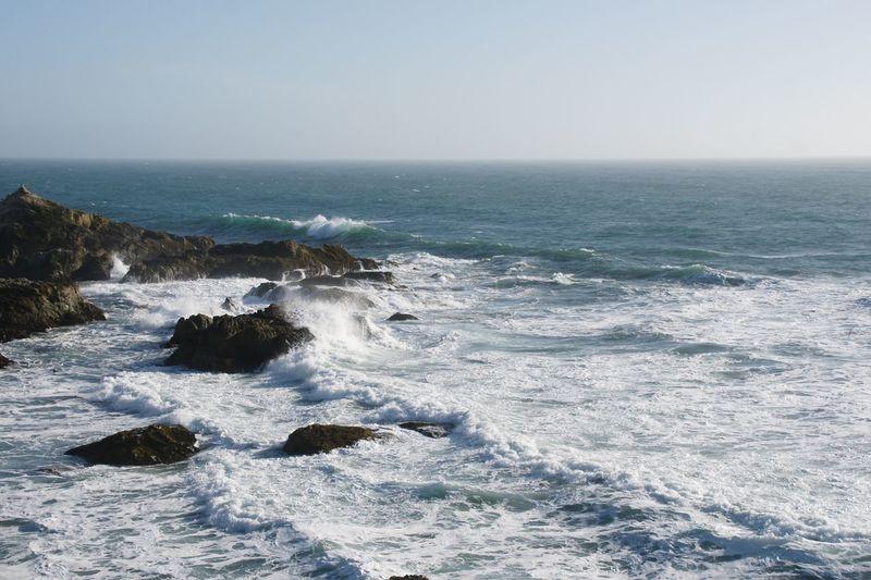 Bodega waves EyeEmNewHere Bodega Bay Sea Water Horizon Over Water Horizon Sky Beauty In Nature Scenics - Nature Wave Beach Splashing Power In Nature Clear Sky EyeEmNewHere The Great Outdoors - 2018 EyeEm Awards