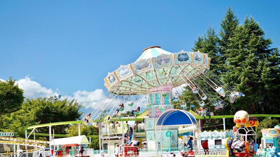 carnival Sky Day Clear Sky Amusement Park