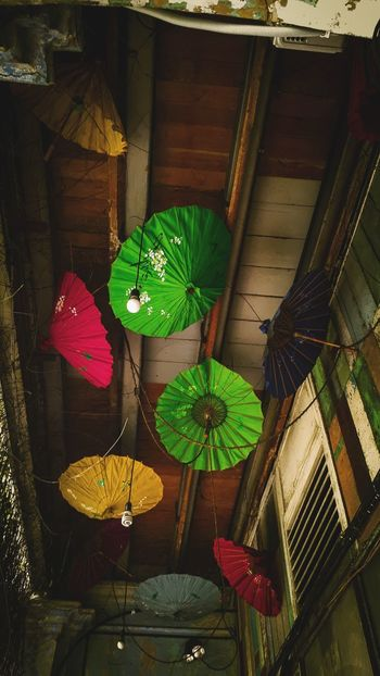 Hanging Colorful Umbrellas... No People Multi Colored Umbrellas Colorful Umbrellas Hanging Decorations The Week On EyeEm EyeEmNewHere Investing In Quality Of Life Mix Yourself A Good Time Step It Up One Step Forward