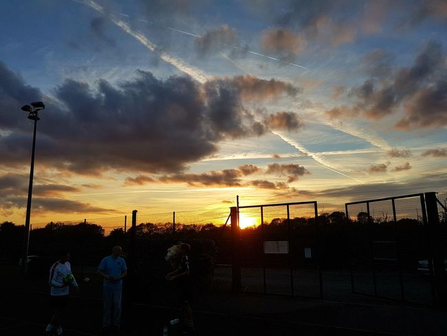 Just before our football game Nofilter Noedit Noeffect Sunset Beautiful Sky Clouds Photography Friends Football