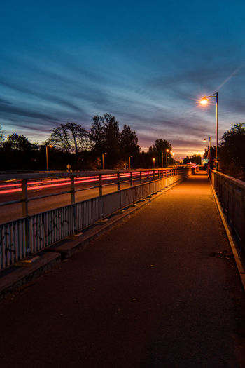 Light trails in