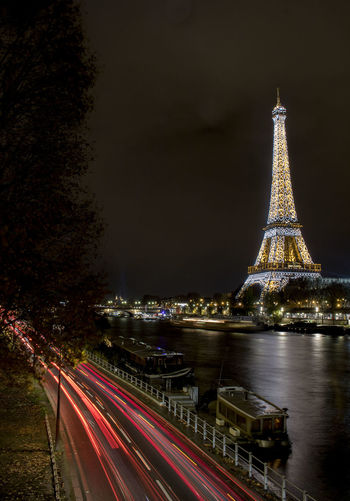 Paris long exposure Paris Night Illuminated Travel Destinations No People Skyscraper Eifel Tower Long Exposure Outdoors Paris Night Nightphotography Cityscape Motion