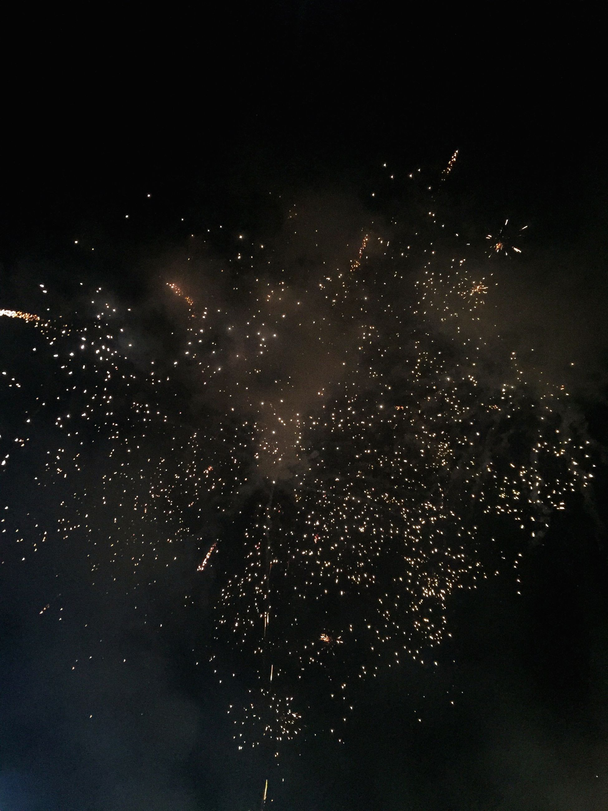 celebration, sky, black background, night, no people, exploding, motion, outdoors, firework - man made object, firework display, particle, galaxy, holi