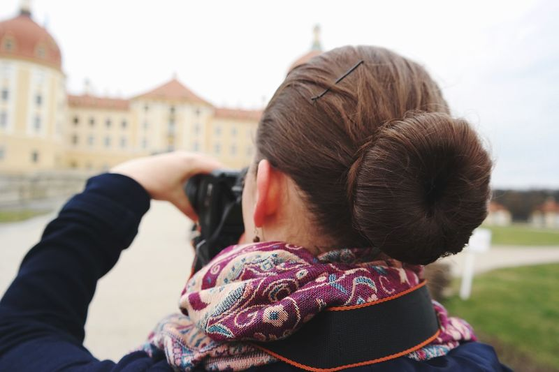 Photographer Real People Lifestyles Leisure Activity One Person Headshot Focus On Foreground Rear View