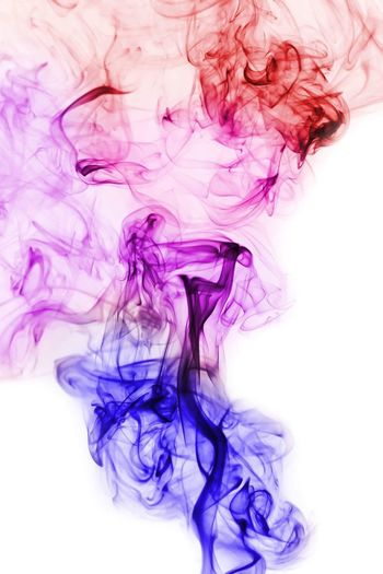 Colorful smoke Abstract Liquid Flowing Ink Smoke - Physical Structure Dye Water Mixing Motion Purple Swirl White Color Pattern Dissolving Backgrounds Vitality Composition Variation Stirring Curve