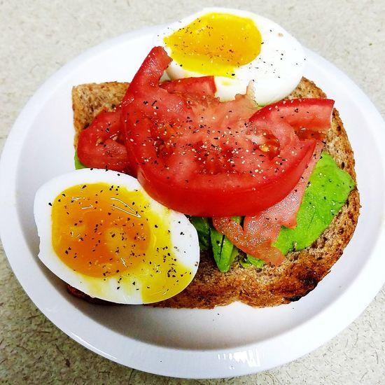 Breakfast Avocado Ezeikel Bread Softegg Tomato