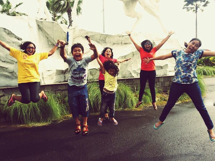 On The Move Enjoying Life New Year 2014 Smile ♥ Taking Photos We Are Family Relaxing happy Bali, Indonesia Jump Shot