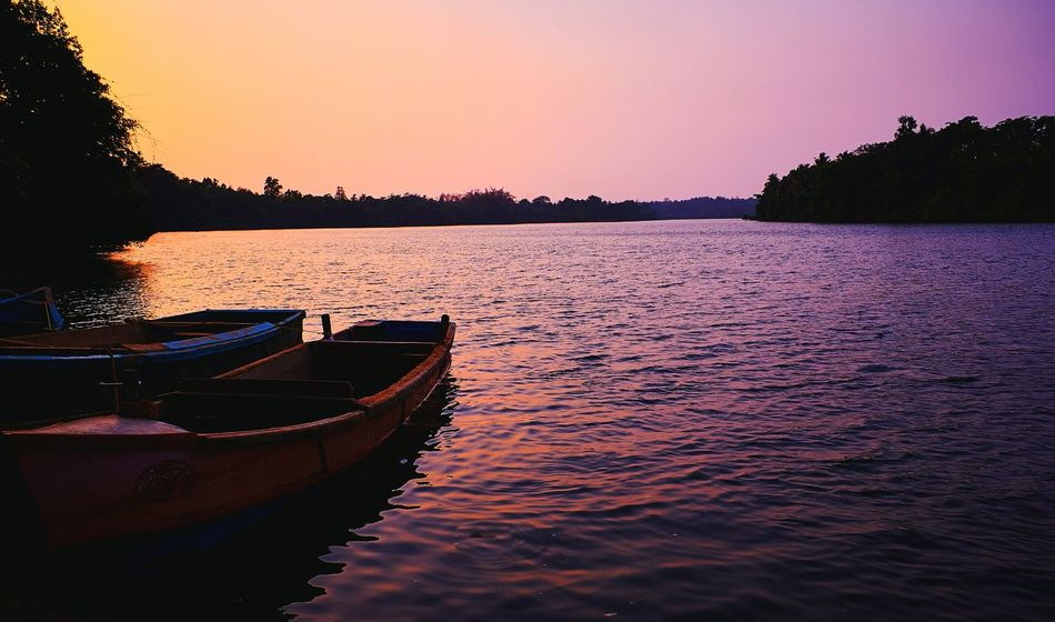 Landscapes With WhiteWall First Person View Sunset Tranquility Water Enjoing Life Ver Tranquil Scene Tranquility Landscape Captureone Outdoors Colour Beauty In Nature Canon60d Landscape Nature Photography [ Landscape_photography Things I Like Riverside Riverscape Riverbank Swarna River Manipal Baba Point Manipal Intitute Of Technology Riverwalk River Bank  Riverside View EyeEm Selects
