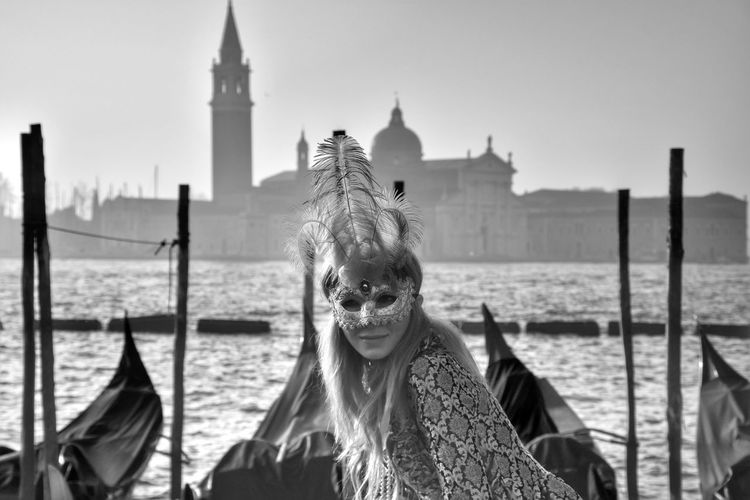 Cultures Gondola - Traditional Boat Outdoors Travel Destinations Building Exterior Nautical Vessel Adults Only People Venetian Mask Gondolier Day Adult Blackandwhite Carnival Crowds And Details Fashion&love&beauty Fashion Mask Performance Performing Arts Event Venice Mask