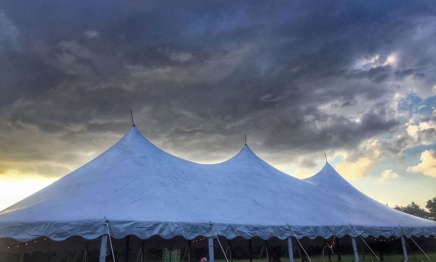 Tent Under The Big Top Wedding Country
