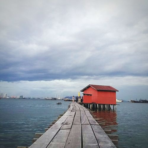 Tan Jetty, Penang Travel Travel Destinations Penang Penang Island Penang Jetty Jetty View Sea And Sky Sea Outdoor Lively People