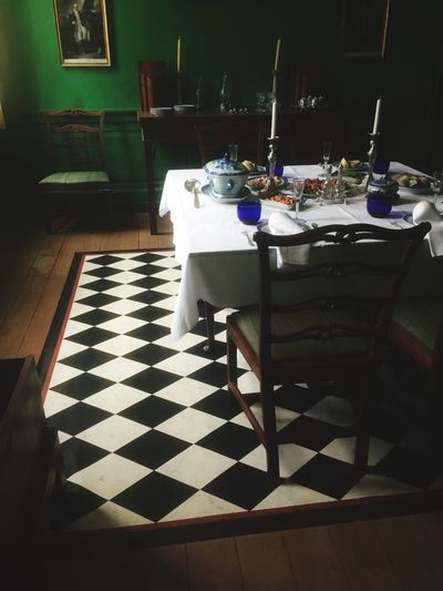 Table Indoors  No People Seat Absence Flooring Shadow Food And Drink