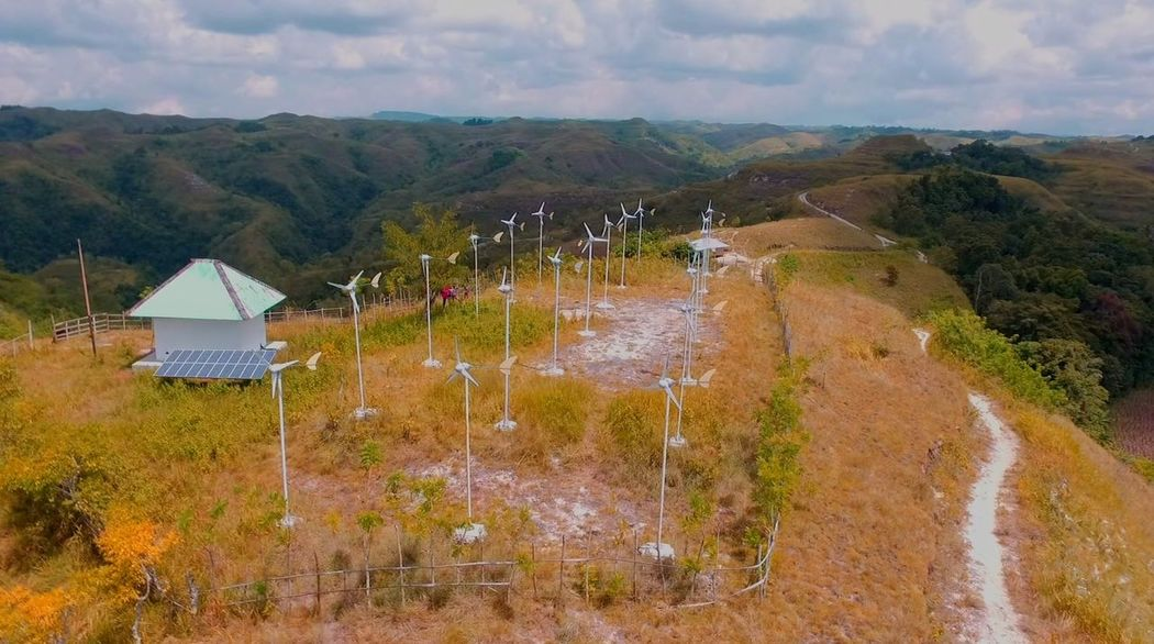 Outdoors Agriculture Cloud - Sky Mountain No People Landscape Day Sky Nature Tree Beauty In Nature Windmill Aerial Shot Aerial Photography Sumba Timur Dronephotography Your Ticket To Europe