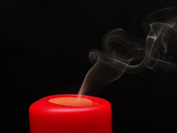 Black Background Studio Shot Smoke - Physical Structure Motion Red Copy Space Indoors  Burning Candle No People Close-up Food And Drink Heat - Temperature Moving Up Abstract Scented Drink Nature Food Flowing Changing Form