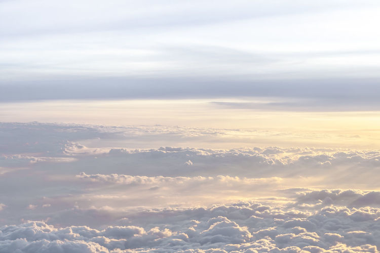 Low angle view of fluffy clouds