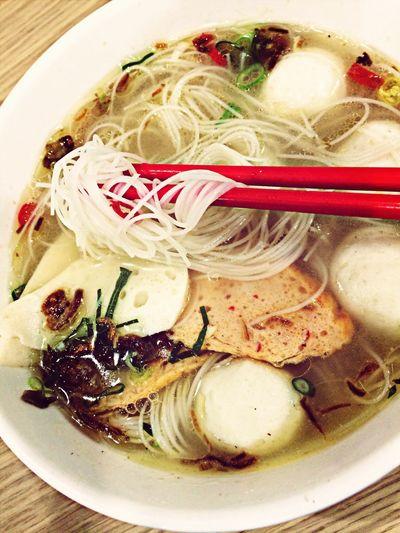 :: fish ball :: Food Noodles Fishball Soup Time