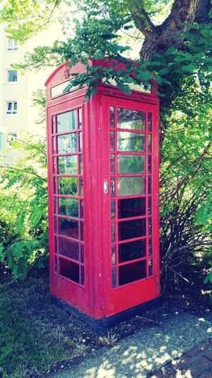 Architecture Red Outdoors No People Telephone Box Red Box Old-fashioned Old Style Old Stuff Old Ways