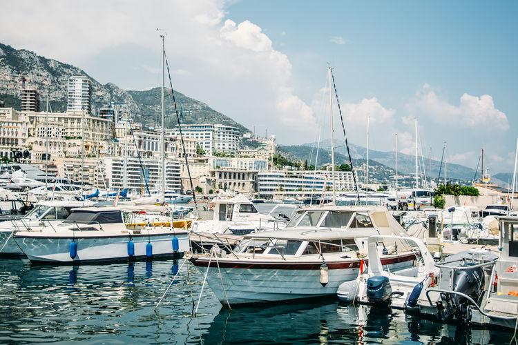 Monaco City Harbor Marina Moored Nautical Vessel Port Sailboat Sea Water Waterfront Yacht