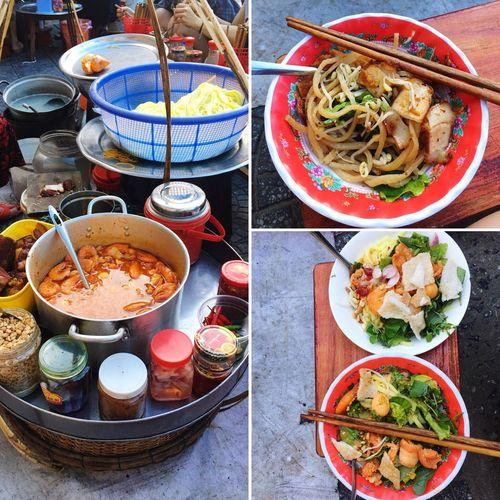 Cao Lau & Quang noodle form madam Hát Hoi An Quang Noodle Cao Lau Food And Drink Food Freshness Table High Angle View Ready-to-eat Choice