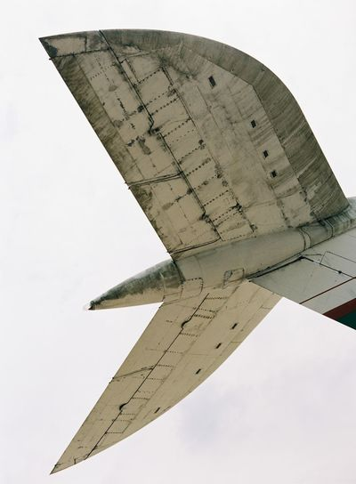 Adventure Aeroplane Brooklands Clear Sky Cloud - Sky Day Flying Grounded History Low Angle View No People Outdoors Plane Rusty Sky Tail Fin Tailfin Tall