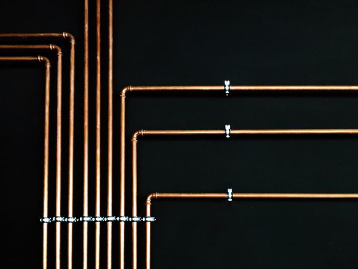 Pipes... Beautifully Organized Rhythm Graphical Structure Minimalism Simplicity Low Angle View Metal Architectural Feature Architectural Detail Beauty In Ordinary Things