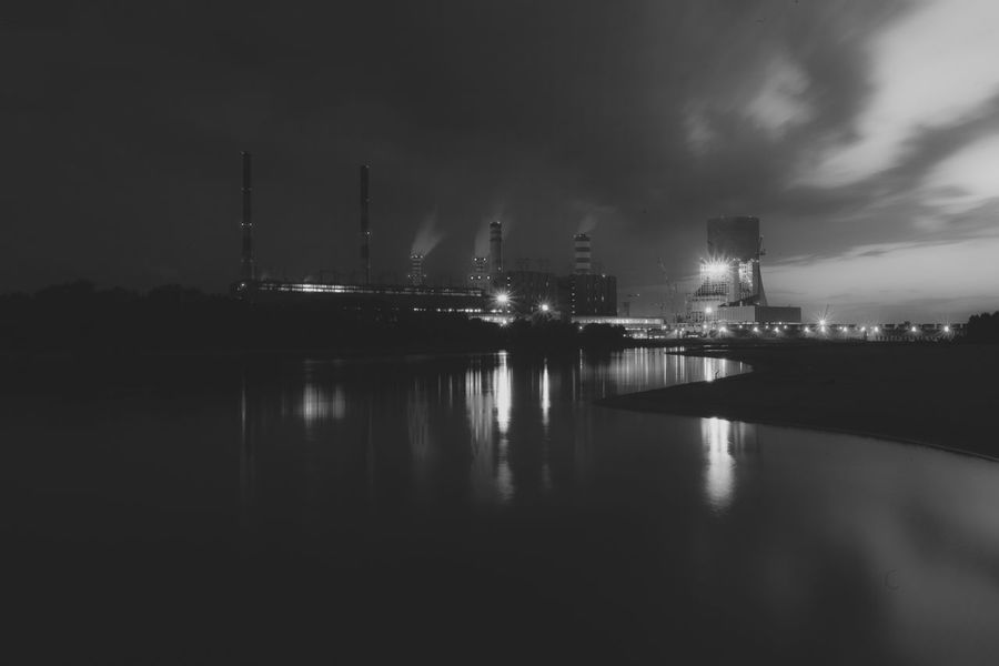 Power Stations City Cloud - Sky Cloudy Commercial Dock Crane - Construction Machinery Dark Development Harbor Illuminated Industry Mast Nature Night No People Outdoors Sky Tall - High Travel Destinations