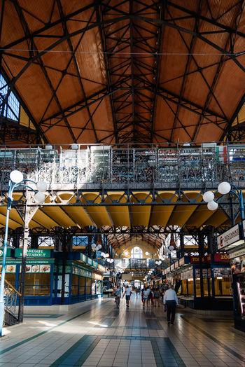Interior of central market hall