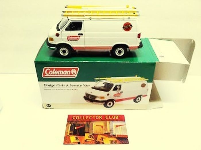 DODGE PARTS AND SERVICE VAN COLEMAN PROMOTION LIMITED EDITION! Dodge Dodge Ram Van