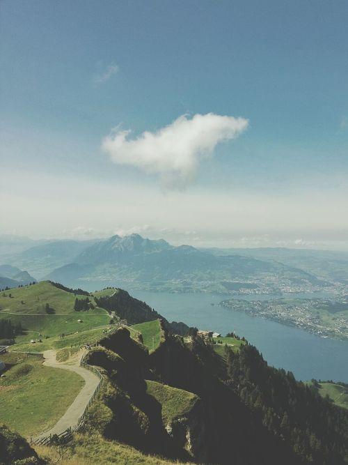 Auf der Königin der Berge, der Rigi. Mit Sicht zum Pilatus