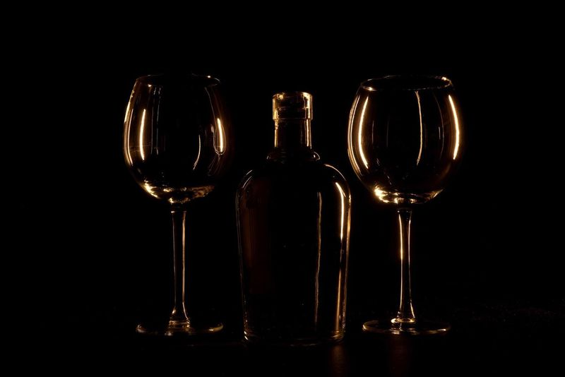 Wineglass Black Background Wine Alcohol Bottle Wine Bottle Food And Drink Red Wine Reflection Cork - Stopper Close-up No People Drinking Glass Drink Refreshment Freshness Indoors  Winetasting OpenEdit Tadaa Community Art Abstract Fine Art Creativity Black Background Wine Not