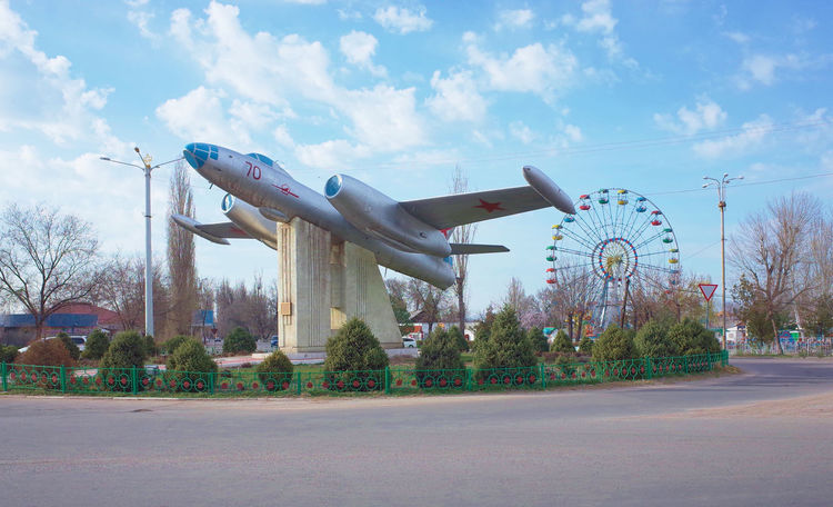 Tokmok roundabout Observation Wheel Plane Soviet Plane Roundabout